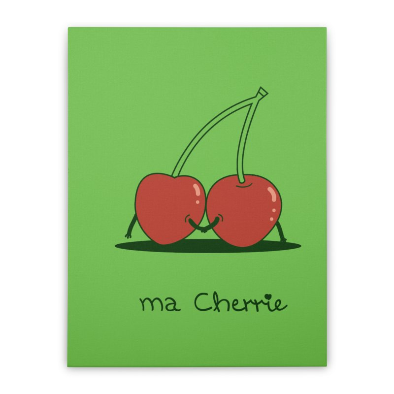 Ma Cherrie Home Stretched Canvas by agrimony // Aaron Thong