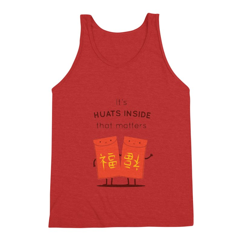 Huats Inside that matters Men's Triblend Tank by agrimony // Aaron Thong