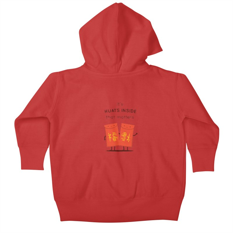 Huats Inside that matters Kids Baby Zip-Up Hoody by agrimony // Aaron Thong