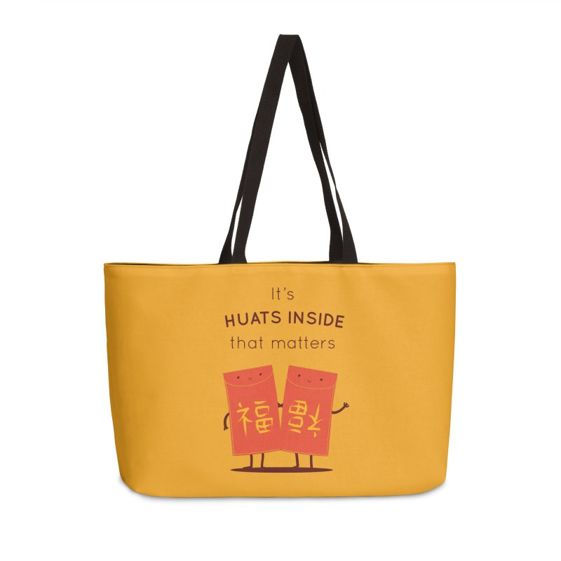 Huats Inside that matters Accessories Weekender Bag Bag by agrimony // Aaron Thong