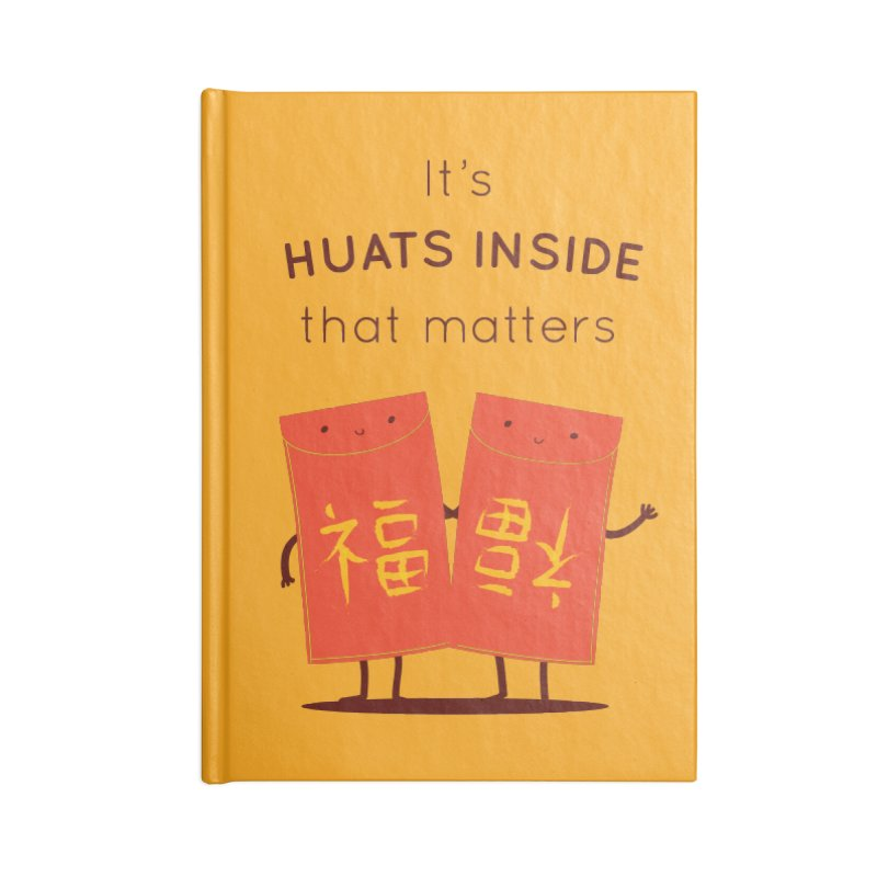Huats Inside that matters Accessories Lined Journal Notebook by agrimony // Aaron Thong