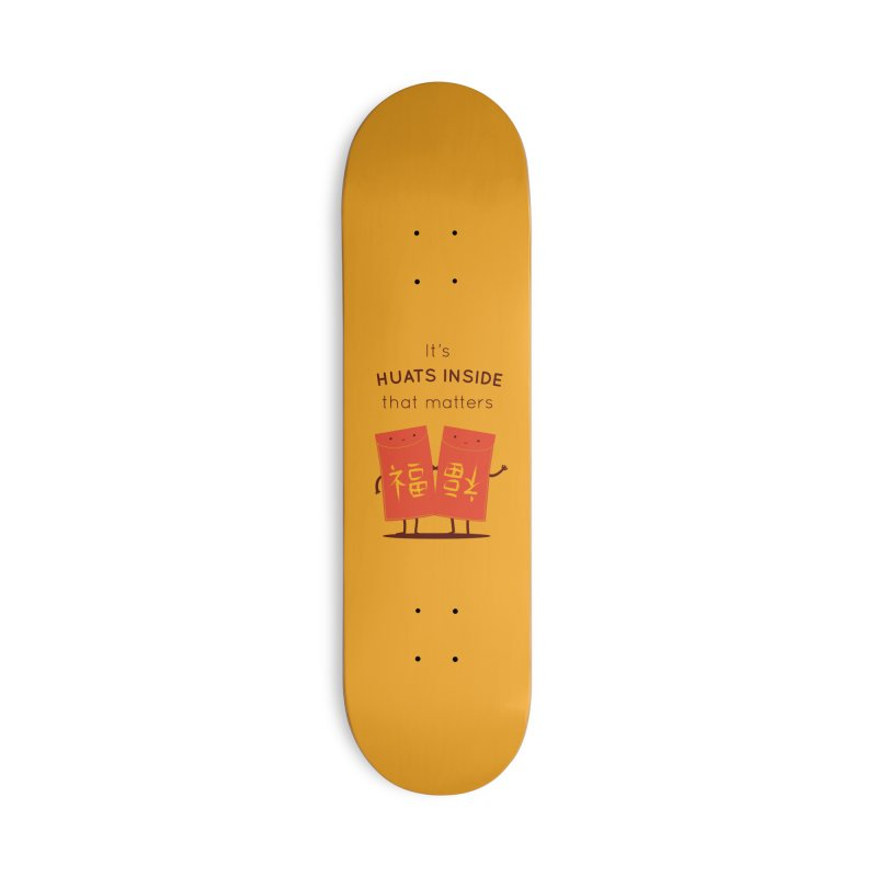 Huats Inside that matters Accessories Deck Only Skateboard by agrimony // Aaron Thong