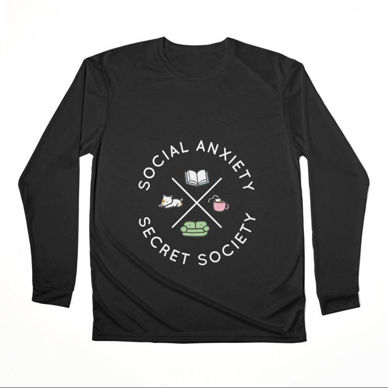 Social Anxiety Secret Society (Doggo) Men's Performance Longsleeve T-Shirt by agrimony // Aaron Thong