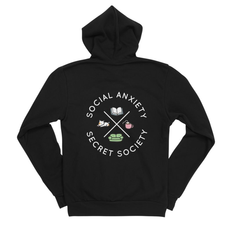 Social Anxiety Secret Society (Doggo) Men's Sponge Fleece Zip-Up Hoody by agrimony // Aaron Thong