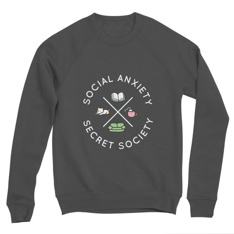Social Anxiety Secret Society (Doggo) Men's Sponge Fleece Sweatshirt by agrimony // Aaron Thong