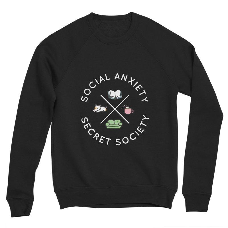 Social Anxiety Secret Society (Doggo) Women's Sponge Fleece Sweatshirt by agrimony // Aaron Thong