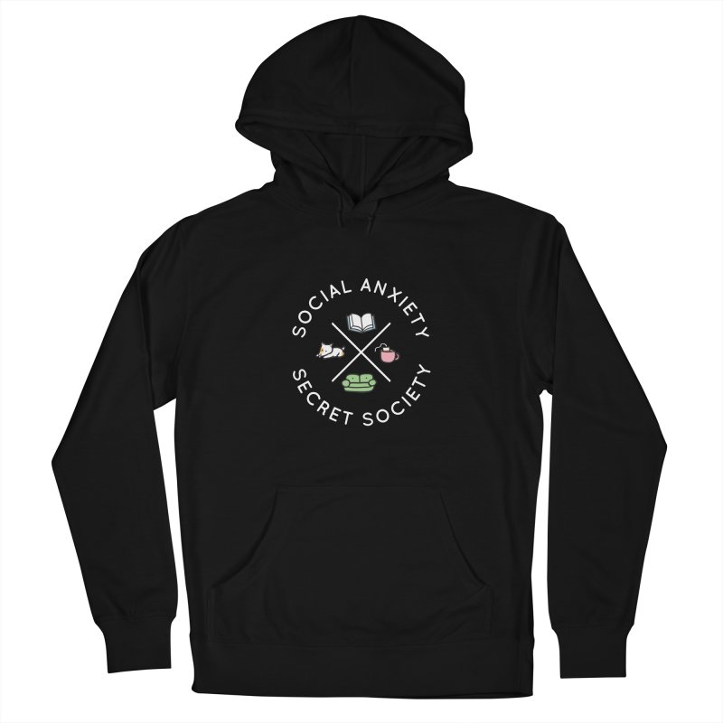 Social Anxiety Secret Society (Doggo) Women's French Terry Pullover Hoody by agrimony // Aaron Thong