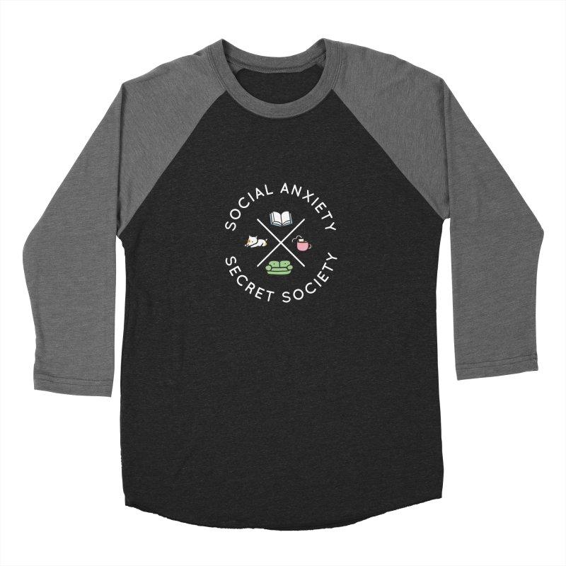 Social Anxiety Secret Society (Doggo) Men's Baseball Triblend Longsleeve T-Shirt by agrimony // Aaron Thong