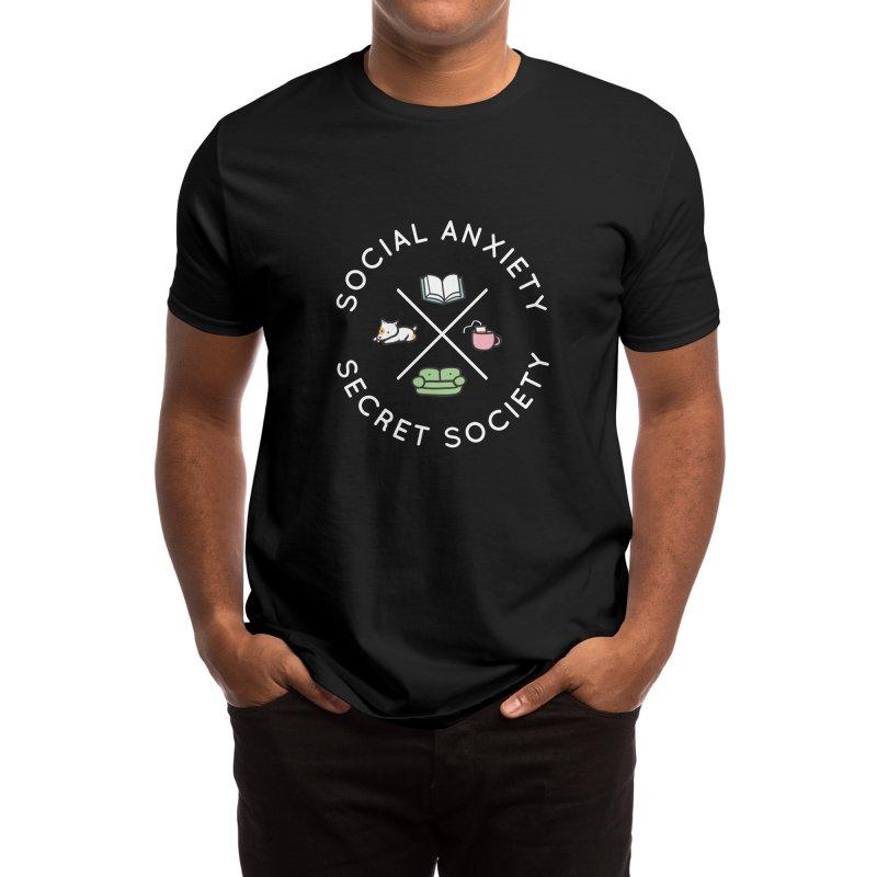 Social Anxiety Secret Society (Doggo) Men's T-Shirt by agrimony // Aaron Thong