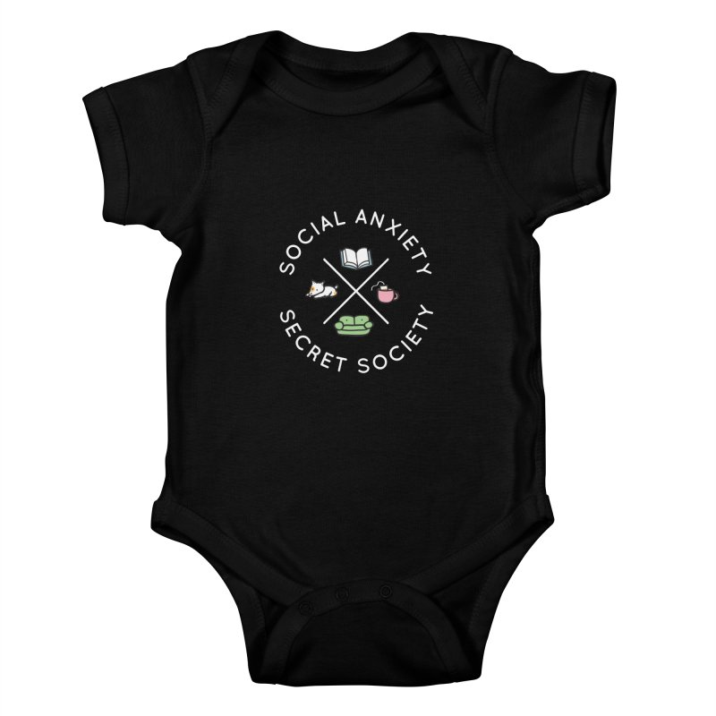 Social Anxiety Secret Society (Doggo) Kids Baby Bodysuit by agrimony // Aaron Thong