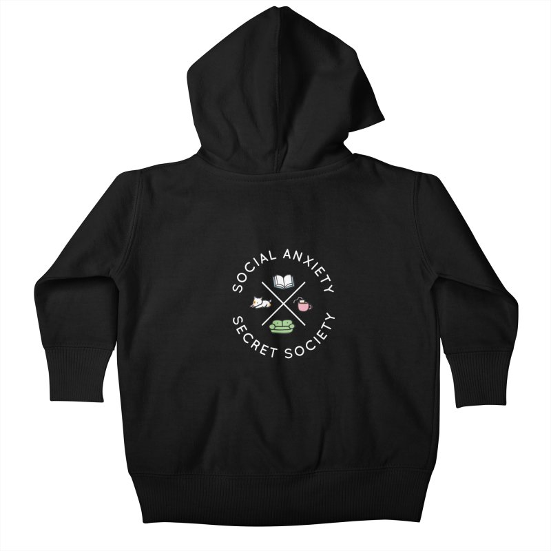 Social Anxiety Secret Society (Doggo) Kids Baby Zip-Up Hoody by agrimony // Aaron Thong