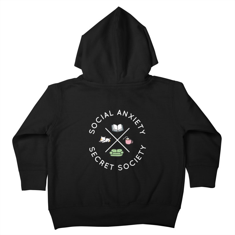 Social Anxiety Secret Society (Doggo) Kids Toddler Zip-Up Hoody by agrimony // Aaron Thong