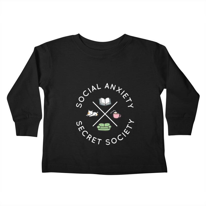 Social Anxiety Secret Society (Doggo) Kids Toddler Longsleeve T-Shirt by agrimony // Aaron Thong