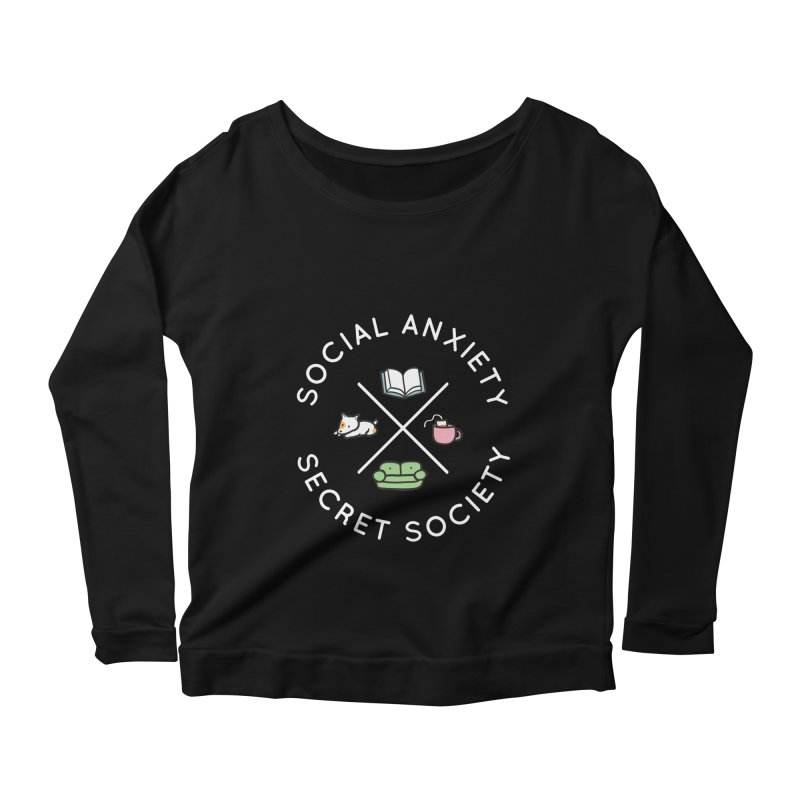 Social Anxiety Secret Society (Doggo) Women's Longsleeve T-Shirt by agrimony // Aaron Thong