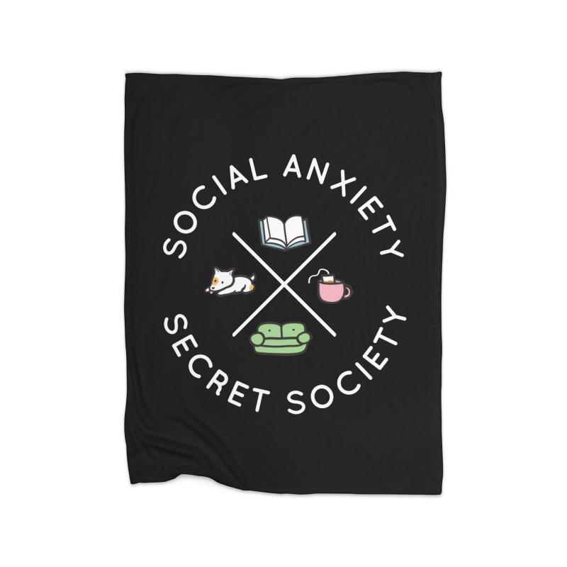 Social Anxiety Secret Society (Doggo) Home Fleece Blanket Blanket by agrimony // Aaron Thong