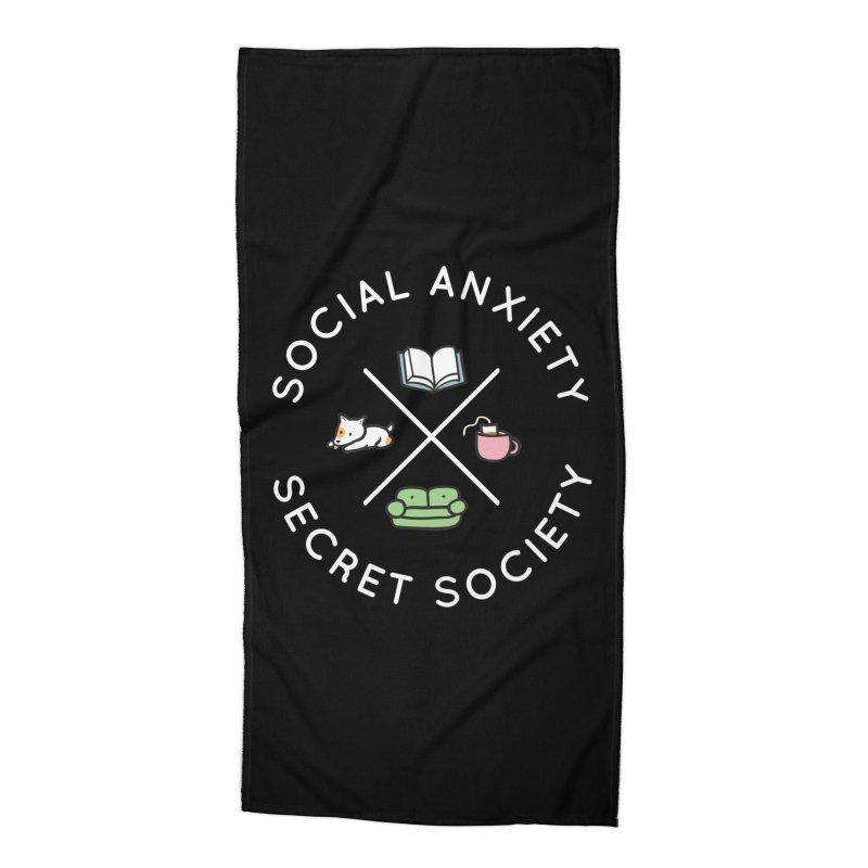 Social Anxiety Secret Society (Doggo) Accessories Beach Towel by agrimony // Aaron Thong