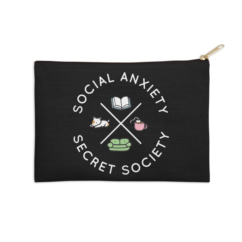 Social Anxiety Secret Society (Doggo) Accessories Zip Pouch by agrimony // Aaron Thong