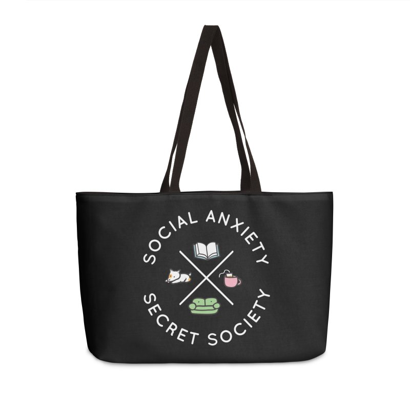 Social Anxiety Secret Society (Doggo) Accessories Weekender Bag Bag by agrimony // Aaron Thong