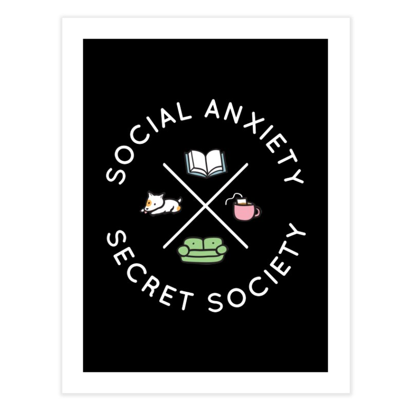 Social Anxiety Secret Society (Doggo) Home Fine Art Print by agrimony // Aaron Thong