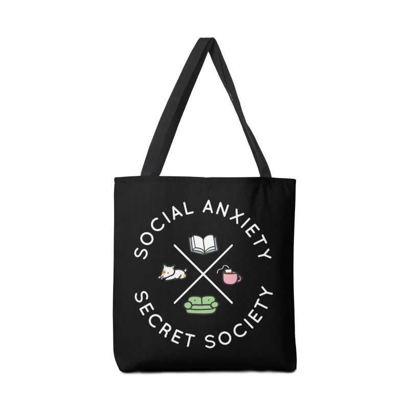 Social Anxiety Secret Society (Doggo) Accessories Tote Bag Bag by agrimony // Aaron Thong