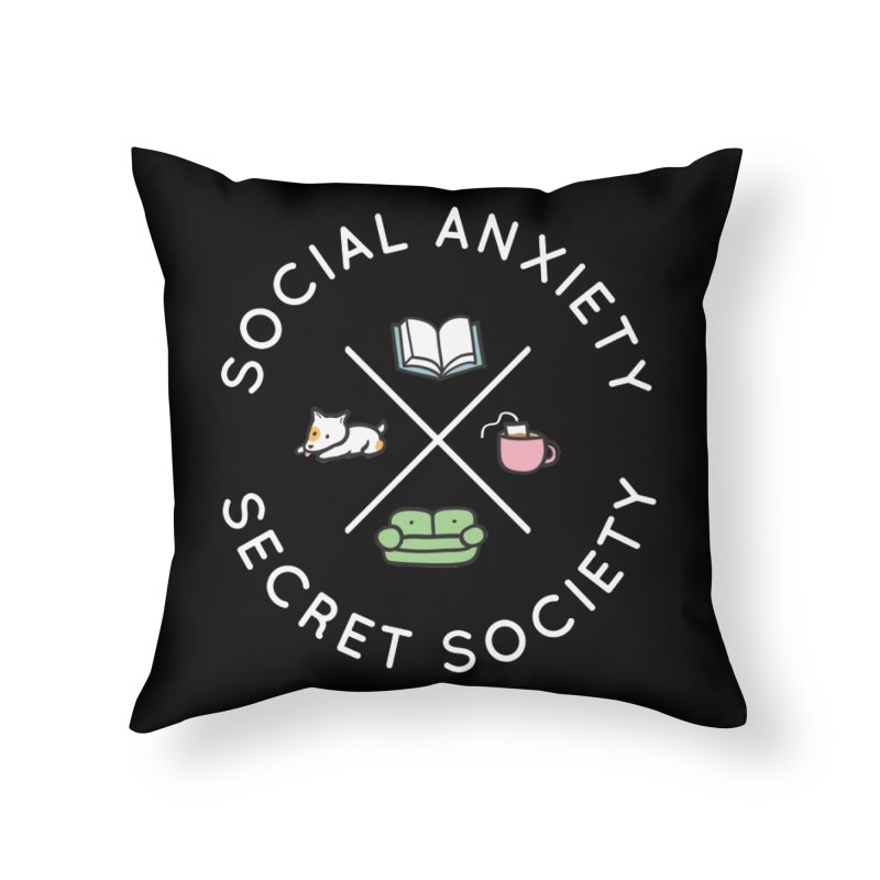 Social Anxiety Secret Society (Doggo) Home Throw Pillow by agrimony // Aaron Thong