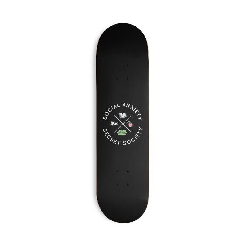 Social Anxiety Secret Society (Doggo) Accessories Deck Only Skateboard by agrimony // Aaron Thong