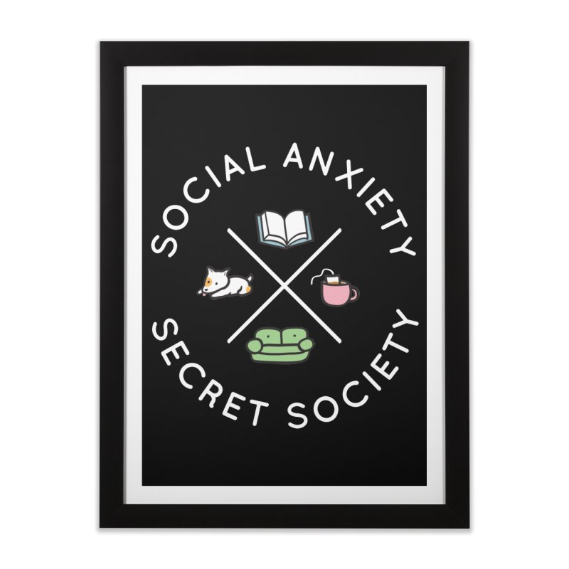 Social Anxiety Secret Society (Doggo) Home Framed Fine Art Print by agrimony // Aaron Thong