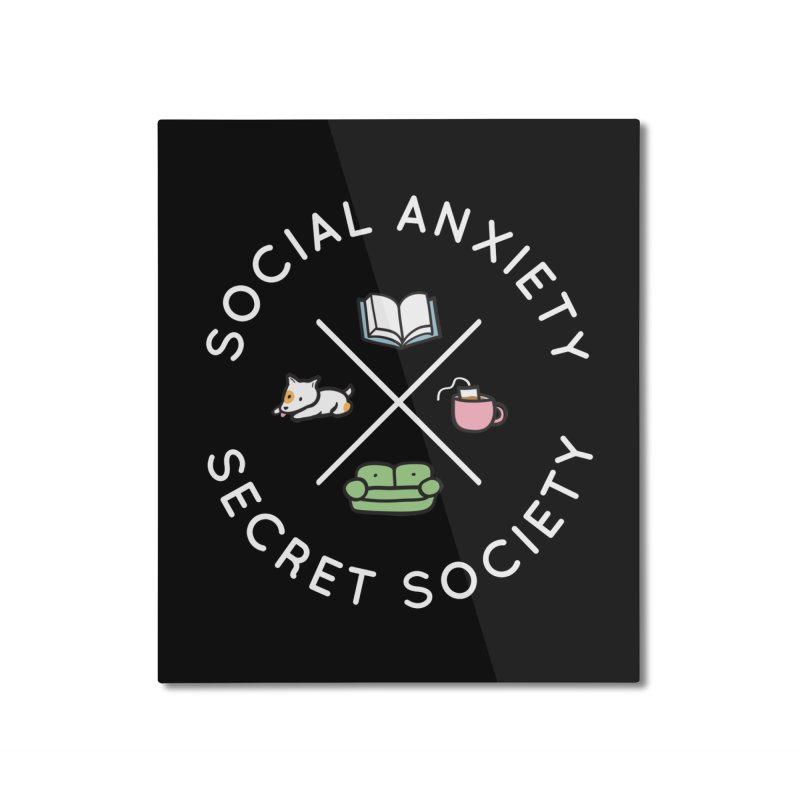 Social Anxiety Secret Society (Doggo) Home Mounted Aluminum Print by agrimony // Aaron Thong