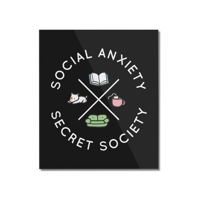 Social Anxiety Secret Society (Doggo) Home Mounted Acrylic Print by agrimony // Aaron Thong