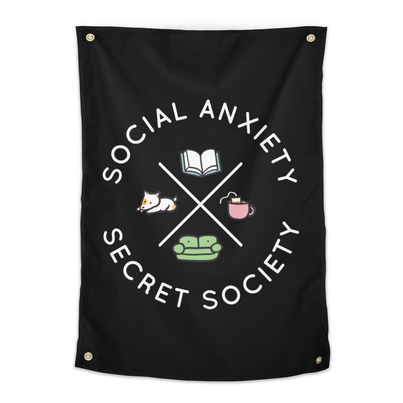 Social Anxiety Secret Society (Doggo) Home Tapestry by agrimony // Aaron Thong