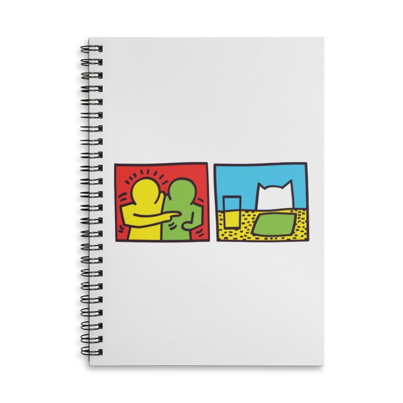 Requiem For a Meme Accessories Lined Spiral Notebook by agrimony // Aaron Thong