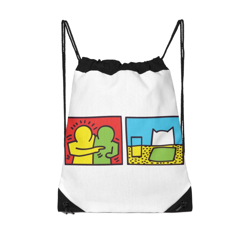 Requiem For a Meme Accessories Drawstring Bag Bag by agrimony // Aaron Thong