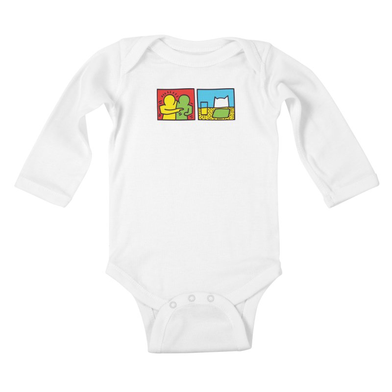 Requiem For a Meme Kids Baby Longsleeve Bodysuit by agrimony // Aaron Thong