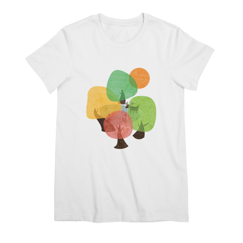 Abstract Woods Women's Premium T-Shirt by agrimony // Aaron Thong
