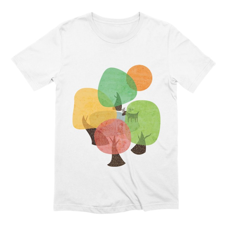 Abstract Woods Men's Extra Soft T-Shirt by agrimony // Aaron Thong