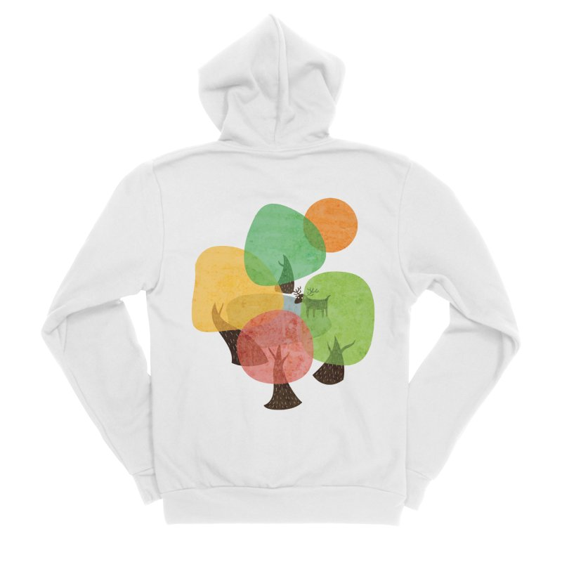 Abstract Woods Men's Sponge Fleece Zip-Up Hoody by agrimony // Aaron Thong
