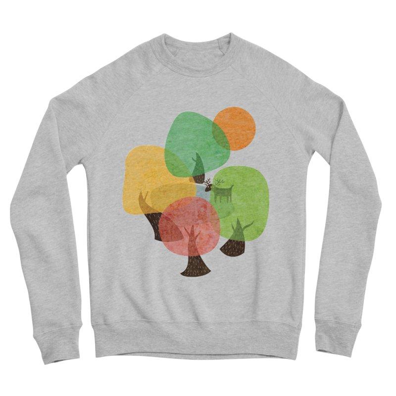 Abstract Woods Women's Sponge Fleece Sweatshirt by agrimony // Aaron Thong