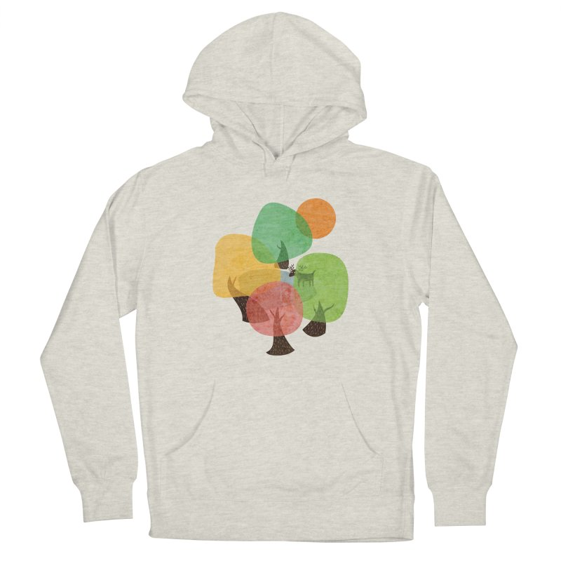 Abstract Woods Men's French Terry Pullover Hoody by agrimony // Aaron Thong