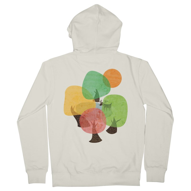 Abstract Woods Men's French Terry Zip-Up Hoody by agrimony // Aaron Thong