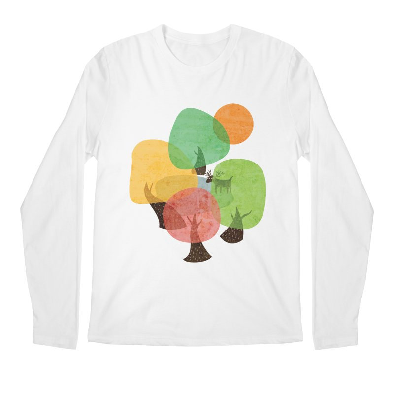 Abstract Woods Men's Regular Longsleeve T-Shirt by agrimony // Aaron Thong
