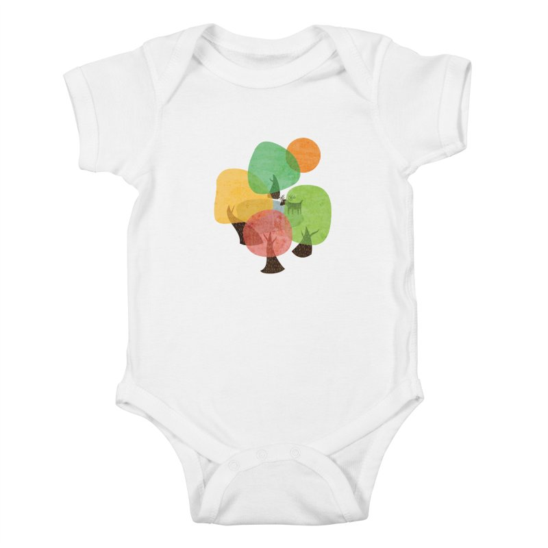 Abstract Woods Kids Baby Bodysuit by agrimony // Aaron Thong