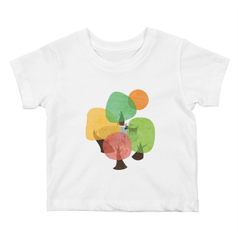 Abstract Woods Kids Baby T-Shirt by agrimony // Aaron Thong