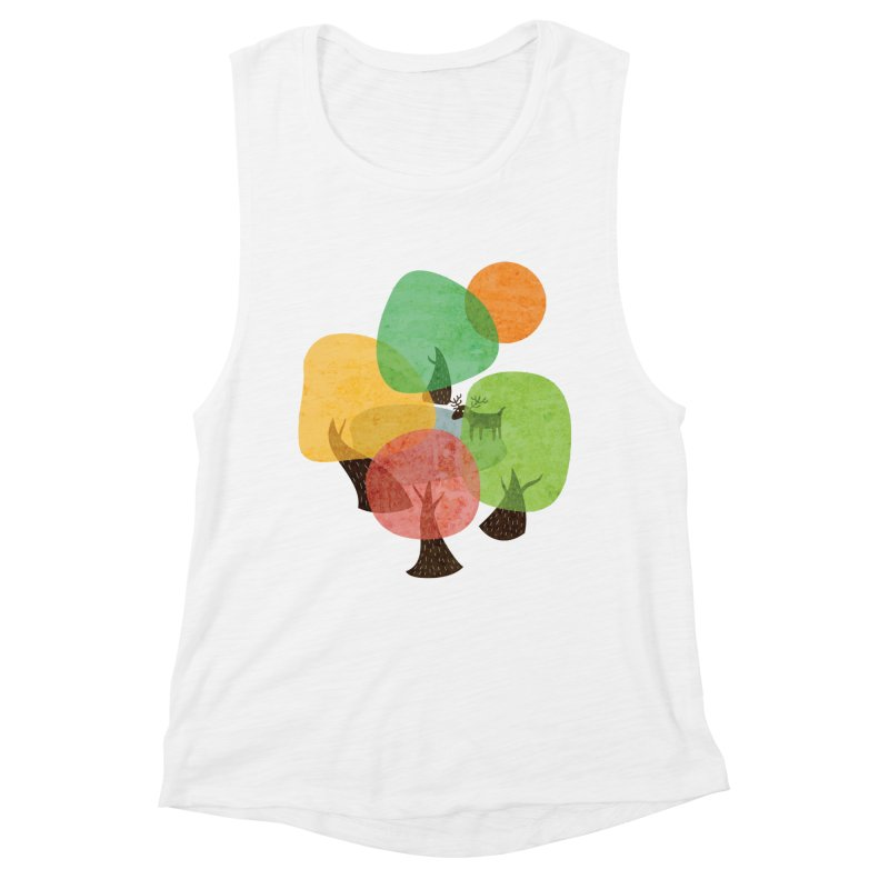 Abstract Woods Women's Tank by agrimony // Aaron Thong