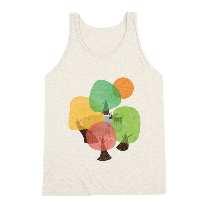 Abstract Woods Men's Triblend Tank by agrimony // Aaron Thong