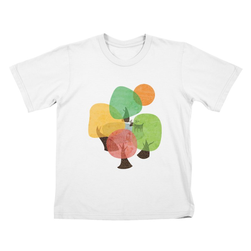 Abstract Woods Kids T-Shirt by agrimony // Aaron Thong