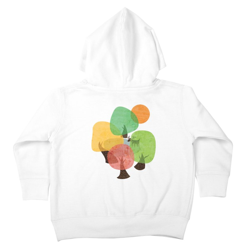 Abstract Woods Kids Toddler Zip-Up Hoody by agrimony // Aaron Thong