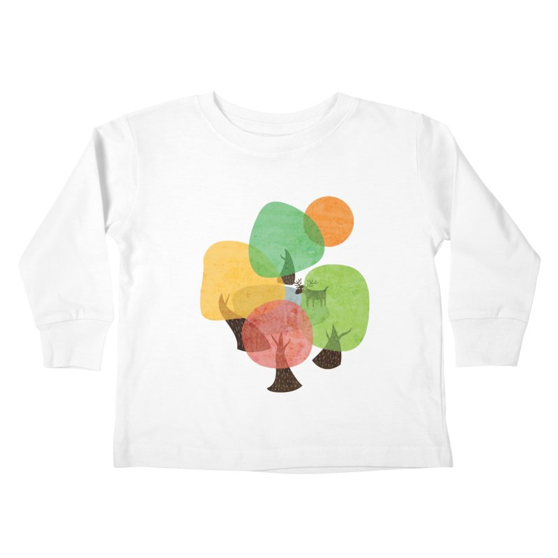 Abstract Woods Kids Toddler Longsleeve T-Shirt by agrimony // Aaron Thong