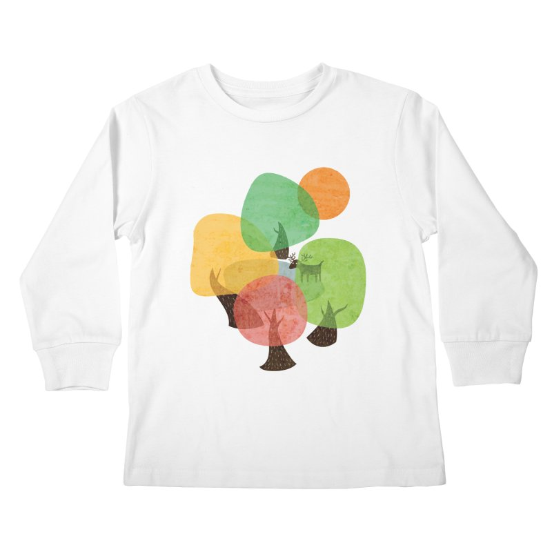 Abstract Woods Kids Longsleeve T-Shirt by agrimony // Aaron Thong