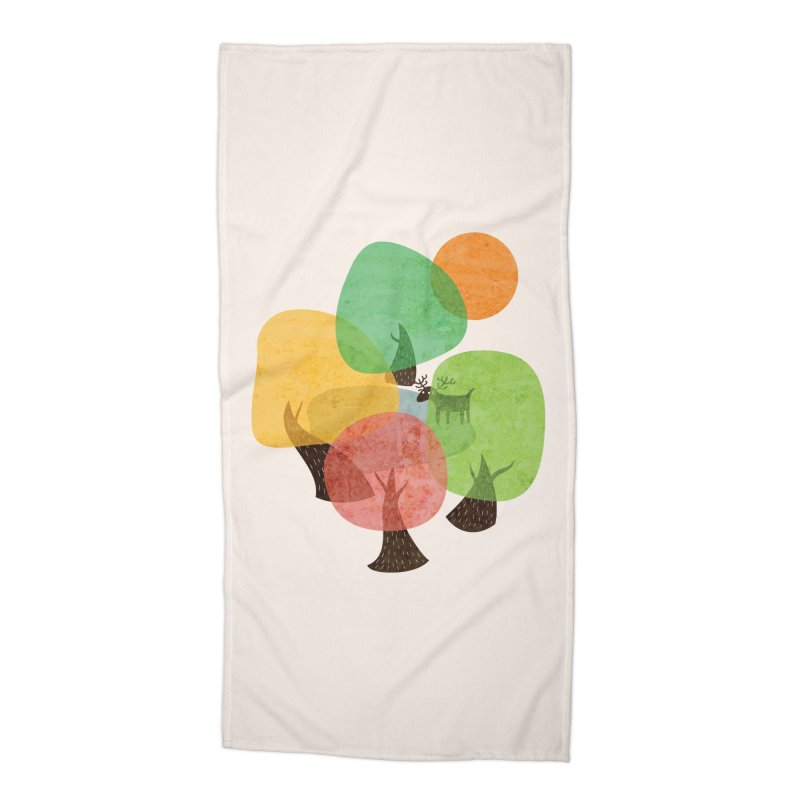 Abstract Woods Accessories Beach Towel by agrimony // Aaron Thong
