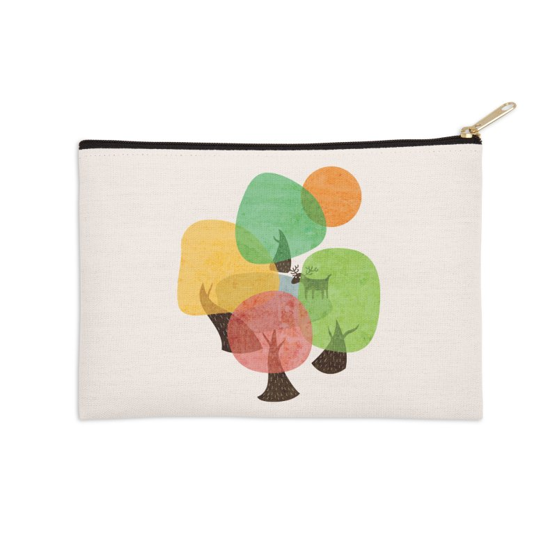 Abstract Woods Accessories Zip Pouch by agrimony // Aaron Thong